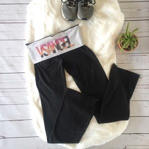 VS Beach Angel Fold Over Yoga Pants XS